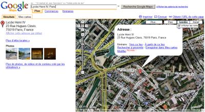 H4 sur Google Maps